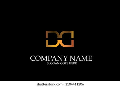Abstract Letter DD Vector Logotype Template.