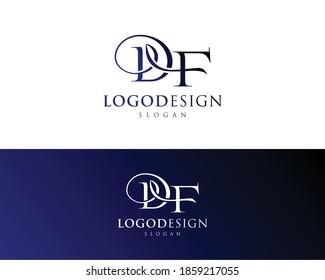 Abstract letter DF logo-FD Logo Design-DF letter logo design-DF letter icon and symbol !