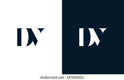 Abstract letter DV logo. This logo icon incorporate with abstract shape in the creative way.