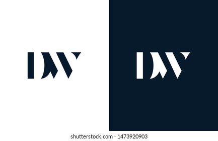 Abstract letter DW logo. This logo icon incorporate with abstract shape in the creative way.