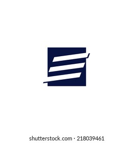 Abstract letter E