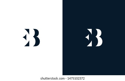 Abstract letter EB logo. This logo icon incorporate with abstract shape in the creative way.