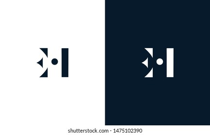 Abstract letter EH logo. This logo icon incorporate with abstract shape in the creative way.