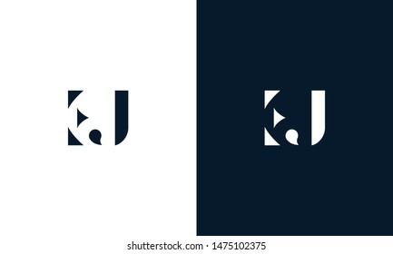 Abstract letter EJ logo. This logo icon incorporate with abstract shape in the creative way.