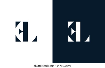 Abstract letter EL logo. This logo icon incorporate with abstract shape in the creative way.