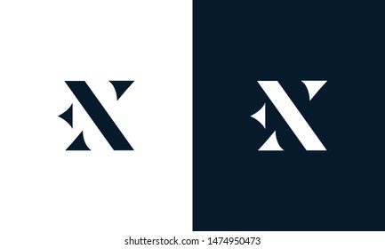 Abstract letter EX logo. This logo icon incorporate with abstract shape in the creative way.