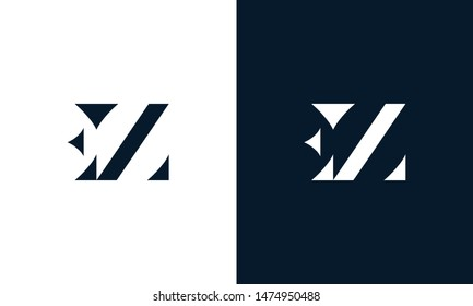 Abstract letter EZ logo. This logo icon incorporate with abstract shape in the creative way.