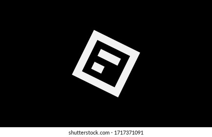 Abstract letter F logo design. Creative,Premium Minimal emblem design template. Graphic Alphabet Symbol for Corporate Business Identity.