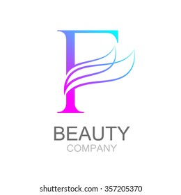 Abstract letter F logo design template with beauty industry and fashion logo.cosmetics business, natural,spa salons. yoga, medicine companies and clinics