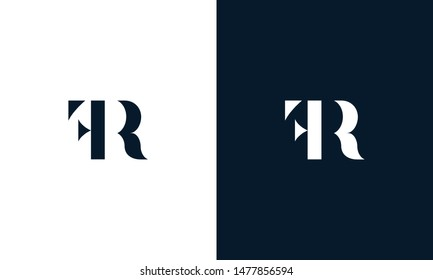 Abstract letter FR logo. This logo icon incorporate with abstract shape in the creative way.