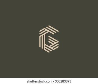 Abstract Letter G logo design template. Line vector symbol. Premium elegant sign mark icon