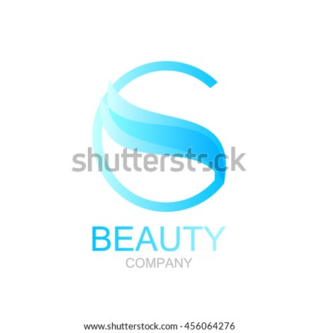 abstract letter g logo design template with beauty spa salons yoga