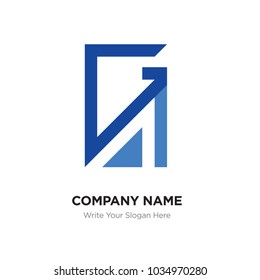 Abstract letter GA,AG logo design template, blUE Alphabet initial letters company name concept. Flat thin line segments connected to each other, abstract letter ga,ag vector logo concept