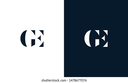 Abstract letter GE logo. This logo icon incorporate with abstract shape in the creative way.
