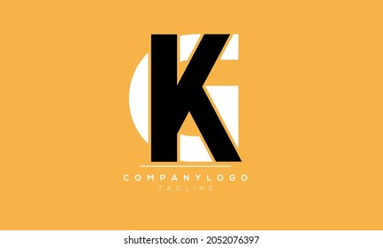 Abstract Letter GK kG Vector Logo Design Template
