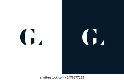 Abstract letter GL logo. This logo icon incorporate with abstract shape in the creative way.