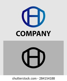 Abstract Letter H vector logo symbol