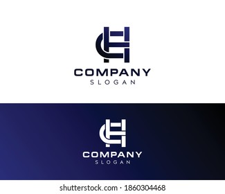 Abstract letter HC logo-CH Vector Logo Design