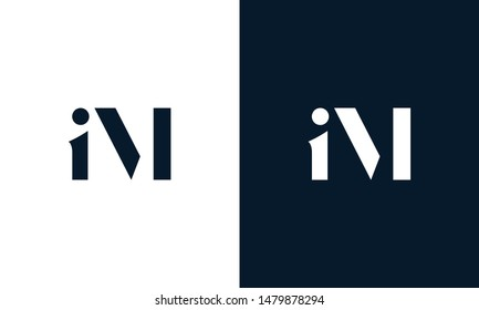 Abstract letter IM logo. This logo icon incorporate with abstract shape in the creative way.