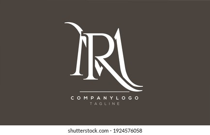 Abstract Letter Initial MR or RM Vector Logo Design Template