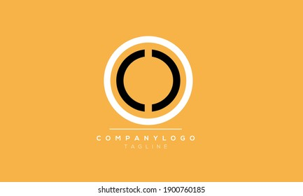 Abstract Letter Initial OCC Vector Logo Design Template