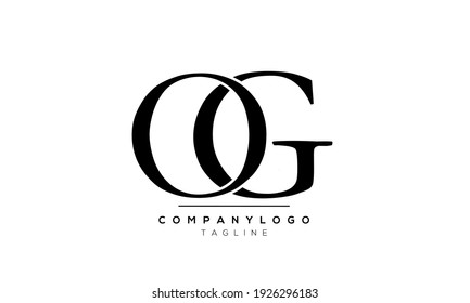 Abstract Letter Initial OG and GO Vector Logo Design Template