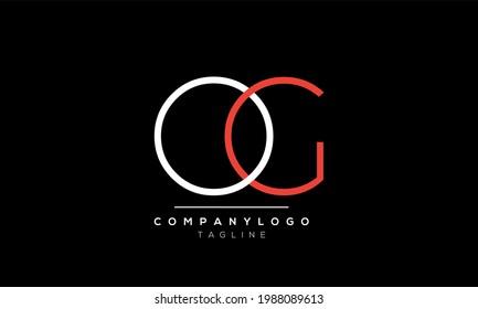 Abstract Letter Initial OG GO Vector Logo Design Template
