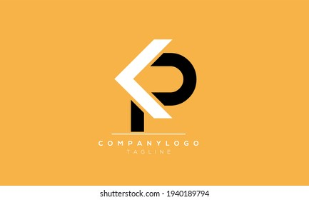 Abstract Letter Initial PK KP Vector Logo Design Template