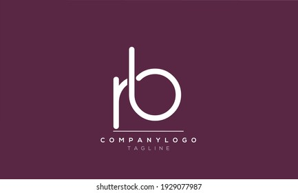 Abstract Letter Initial RB and BR Vector Logo Design Template