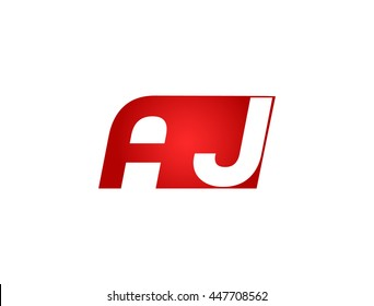 Abstract letter A J. lovely logo design template.