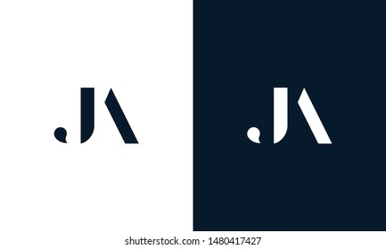 Abstract letter JA logo. This logo icon incorporate with abstract shape in the creative way.