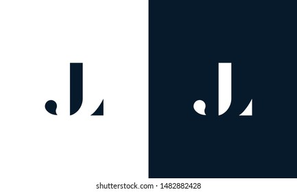 Abstract letter JL logo. This logo icon incorporate with abstract shape in the creative way.