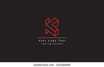 Abstract letter K logo design. Creative,Premium Minimal emblem design template. Graphic Alphabet Symbol for Corporate Business Identity. Initial KK vector element