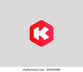 Abstract letter K logo design template. Colorful creative sign. Universal vector icon.