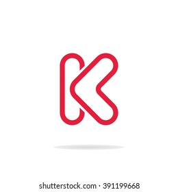 Abstract letter K logo template. Letter K icon. Business logo template. Monogram. Minimalistic logo
