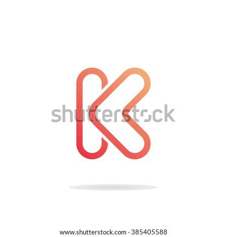 abstract letter k logo template k のベクター画像素材 ロイヤリティ