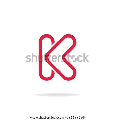 abstract letter k logo template letter k icon business logo template monogram