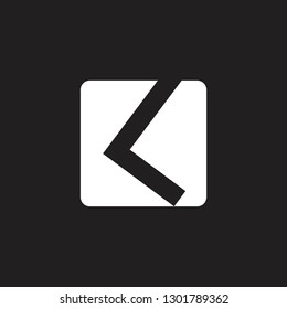 abstract letter kl simple square geometric logo