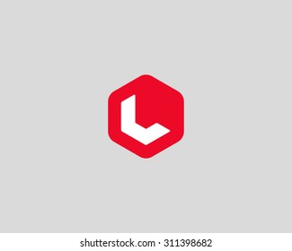 Abstract letter L logo design template. Colorful creative hexagon sign. Universal vector icon.