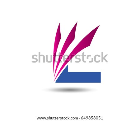 Abstract Letter L Logo Design Template Stock Vector Royalty Free