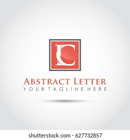 Abstract Letter LC Logo Template. Vector Illustrator Eps.10
