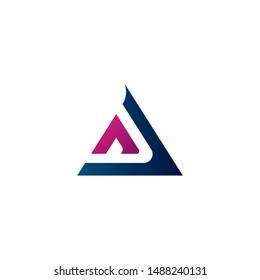 Abstract Letter A Logo Concept Vector. Alphabet Logo Template