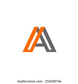 Abstract letter A logo design template. Arrow creative sign. Vector icon.