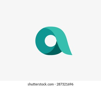 Abstract letter A logo design template. Colorful vector icon. Universal symbol.