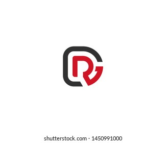 abstract letter logo initial DR design template vector illustration