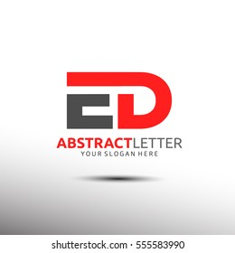 Abstract Letter Logo Initial ED. Vector Iogo template
