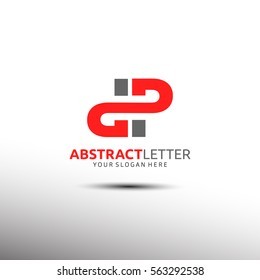 Abstract Letter Logo Template in Initial DP. Vector illustration
