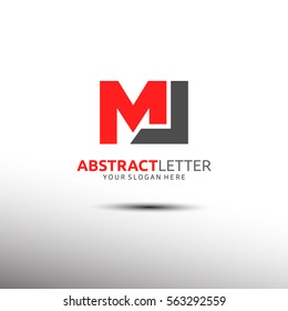 Abstract Letter Logo Template in Initial ML. Vector illustration