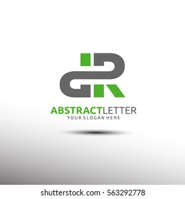 Abstract Letter Logo Template in Initial DR. Vector illustration