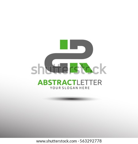 abstract letter logo template in initial dr vector illustration
